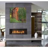 Cuadro Klimt Gustav Pintor Famoso Flores Casa Campo 60x60cm