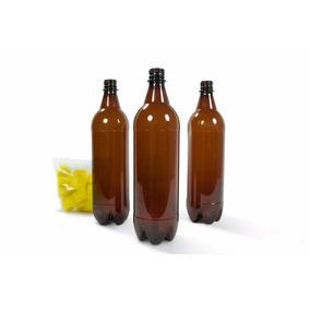 Botella Pet Ambar 1000 Cc C/tapa Incluida. Para Cerveza