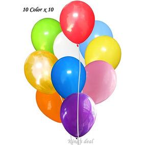Rey De Acuerdo 100 (10color X 10) Látex Globos - 11 Pulgadas