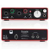 Interfaz De Audio Scarlett 2i2 Gd Mk2 Usb, Focusrite