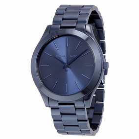 Relógio Luxo Michael Kors Mk3419 Azul Slim Novo Ref0312