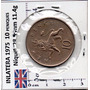 Monedas Mundo Reino Unido 10 Penique 1975 Leon F12