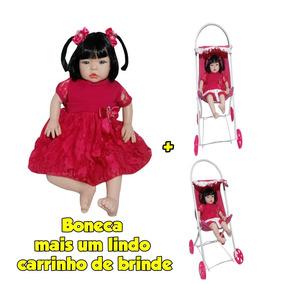 Boneca Bebê Detalhes Reais Tipo Reborn+brindes Frete Gratis