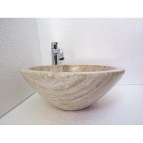 lavabo ovalin mrmol moderno minimalista beige crema chico - Lavabos Modernos