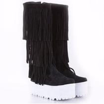 Bota Teens Con Plataforma Y Flecos Model Ash De Shoes Bayres