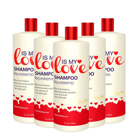 Kit 5 Shampoo Alisante Liso Extremo Is My Love 1000ml