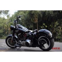 Custom Harley Softail Fatboy Paralama Aço Com Aba Espadas