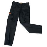Pantalón Trabajo Cargo Reforzado Gaucho Talles 38 A 46 Negro