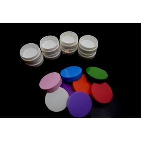 100 Mini Pote Plástico Vazio Para Brindes Creme Ou Joia 10ml