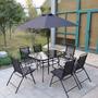Juego De Jardín (mesa + 6 Sillones + Sombrilla ) Kosma Laury