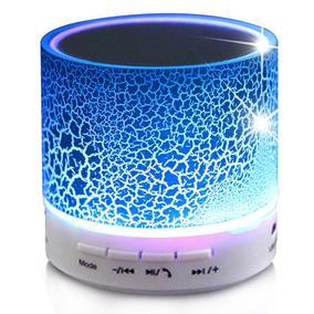 Corneta Bluetooth Pequeña Memoria Sd Auxiliar Fm Led Colores