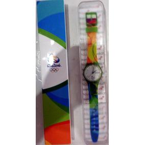 72b110cb9fb Relógio Swatch Edição Especial Limitada Olimpíadas Rio 2016