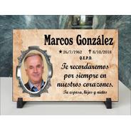 Placa Cementerio Recordatoria Con Foto Acrílica 15x20 Pc101