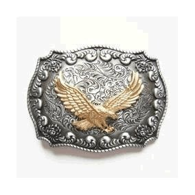 Hebilla Del Cinturón Occidental Del Águila De Oro