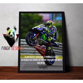 Quadro Valentino Rossi 46 Frases Moto Gp The Doctor C Vidro