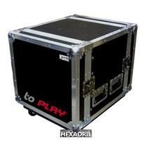 Rack 10 Espacios Amplificadores Con Ruedas Hexadril Abedul