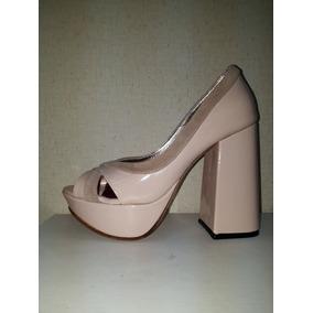 fa98ea8f Zapatos Taco Ancho Nude - Zapatos de Mujer en Mercado Libre Argentina