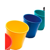 Cesto Papelero Multiuso Tacho De Basura Plástico Vs Colores