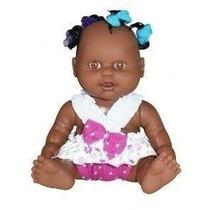 Boneca Milkinhas Petit Negra Com Chuquinhas- Milk Brinquedos