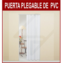 Puerta Plegable Pvc - 84 Cm X 2.10 Mts