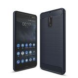 Funda Tpu Fibra Carbono Rugged Proteccion Para Nokia 6 8