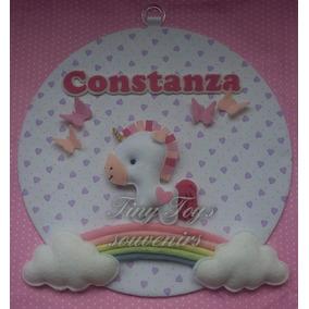 Cartel Unicornio Bienvenida Nacimiento Con Nombre