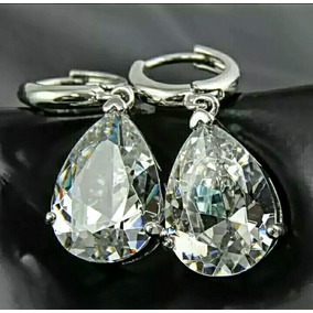 Exquisitos Aretes Real Cristal Swarovski Corte Diamant Mujer