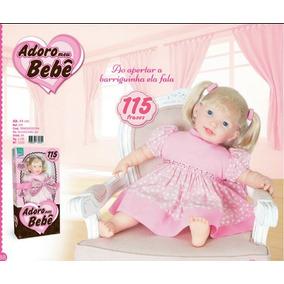 Boneca Adoro Meu Bebê Fala 115 Frases - Promoção
