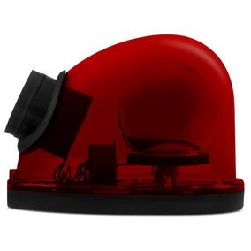 Giroflex Luz De Emergência Vermelho Com Sirene Tech One