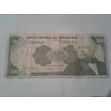 Billete De 20 Bolivares De 1979