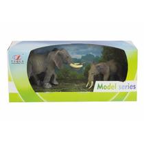 Set Muñecos Familia De Animales Tigres Elefantes