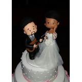 Topo De Bolo Para Casamento Casal De Noivos Em Biscuit