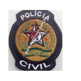 Distintivo Bordado Polícia Civil I