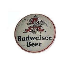 Budweiser Beer Boton Domo Anuncio Lamina Poster Letrero Retr