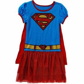 Disfraz Super Girl Y Batichic Con Capa Removible Impo De Usa