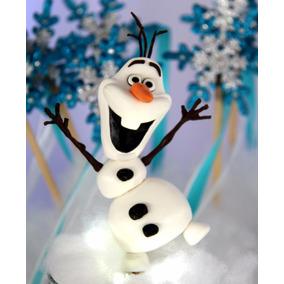 Adorno De Torta Olaf Frozen En Porcelana Fria
