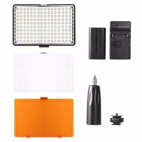 Iluminador Led Video Light 180 Leds + Bat. F570 + Carregador