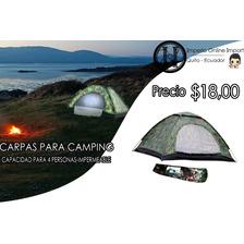Carpa De Camping 4 Personas