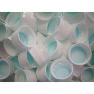 Tampa Plástica Com Lacre Perfil Baixa Branca 500un