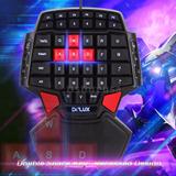 Teclado Gamer Una Mano Retroiluminado Gaming Keyboard Pc