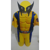 Fantasia Do Wolverine Curta Com Musculo Luxo +mascara+garras