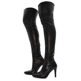 Bota Feminina Over The Knee Cano Longo Confortável Strech