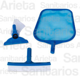 Kit Mantenimiento Pileta Intex Limpiafondo + Cepillo + Hojas
