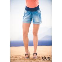 Shorts Jeans Britney Tamanho 40 M - Moda Gestante Due Vita