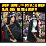 Disfraz Arabe, Turco, Sheik, Turbante En Algodon Y Poliester