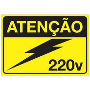 Placa Adesivo Para Painéis Elétricos Tensão 220v Nr10 Nr12
