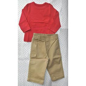 Set Tipo Carters De Remera + Pantalón De Lona Talle 12 M
