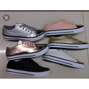 Zapatos Tipo Paseo Platedos,dorados, Dama, Moda Colombiana