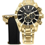 Relógio Technos Legacy Kit Pulseira Extra Preta Os2aajac/4p