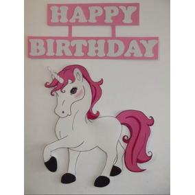 Letrero Unicornio Personalizado Cumpleaños Cartel Fiesta